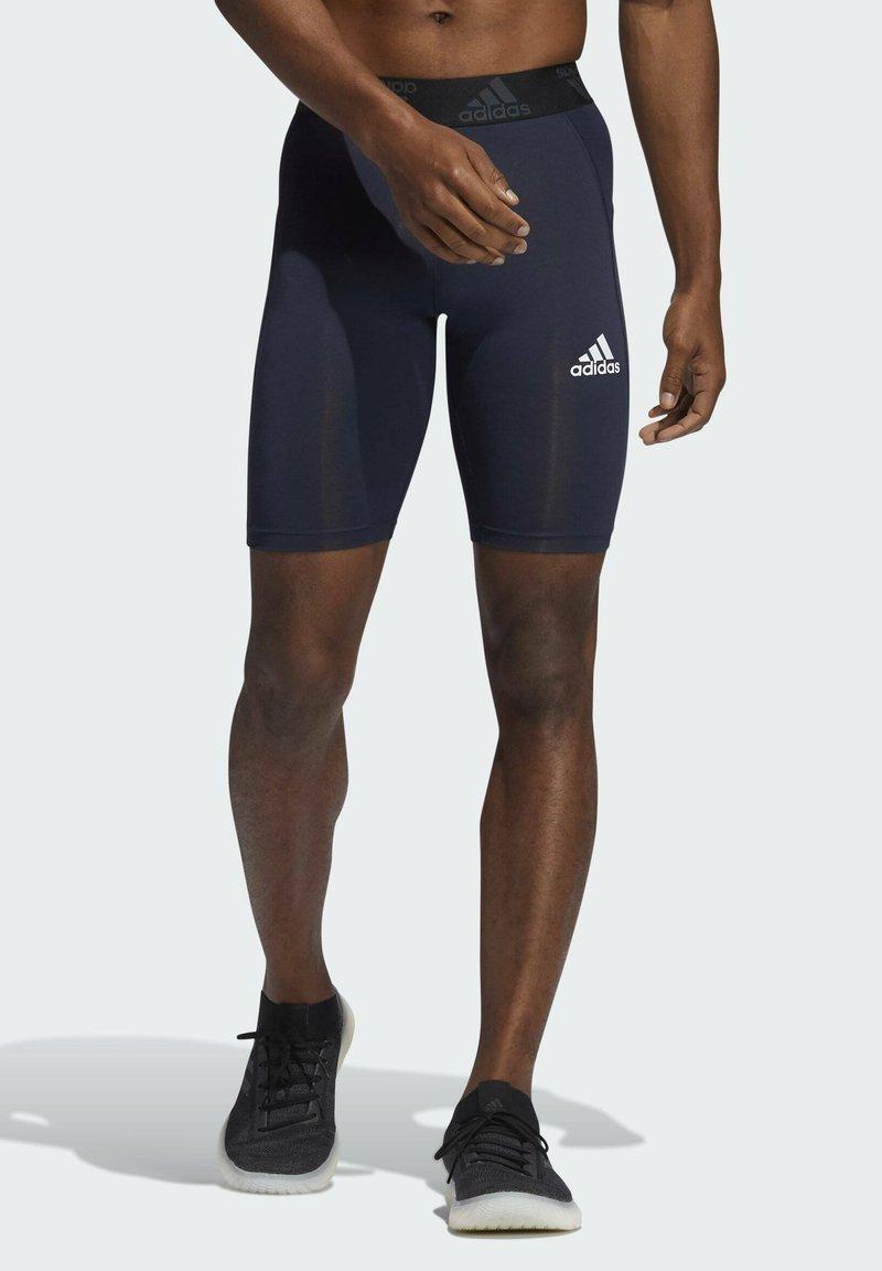 adidas Performance - TECHFIT SHORT TIGHTS - Medias - blue