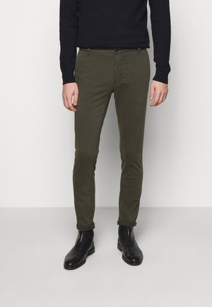 TRANSIT - Trousers - black green