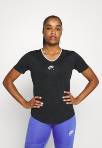 Nike Performance - AIR - T-shirts med print - black/silver - 0