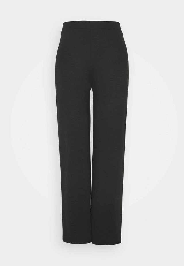 ONLFEVER WIDE PANTS - Trousers - black