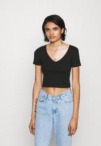 Even&Odd - 3 PACK - T-shirt basic - black - 4