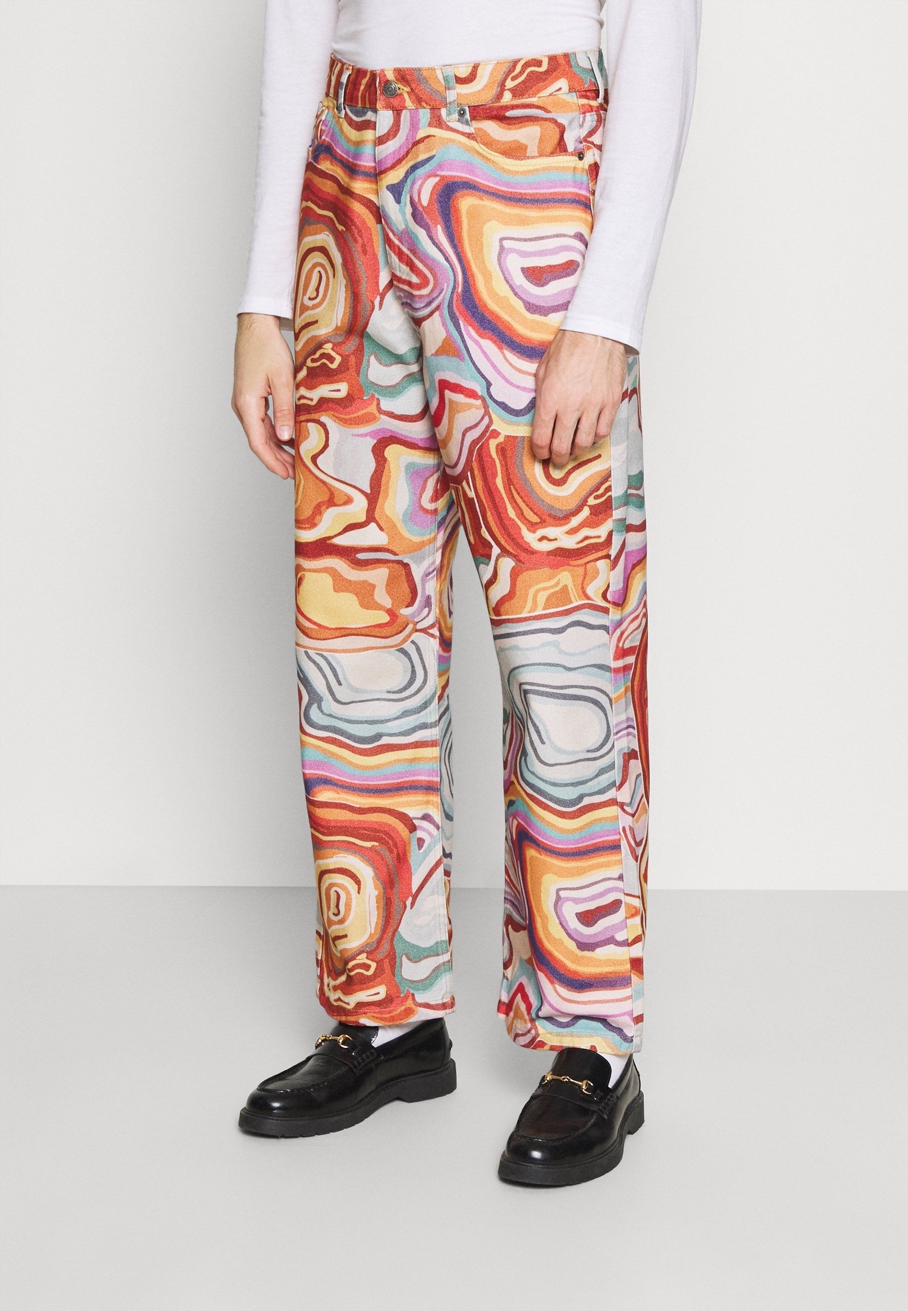 Uomo ABSTRACT 70S PRINT SKATE - Jeans baggy