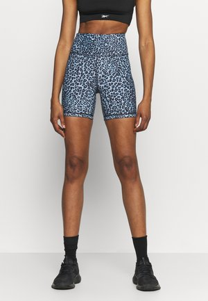 REVERSIBLE BIKE SHORT - Medias - navy