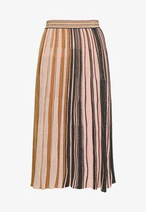 DONARE - Áčková sukně - gold