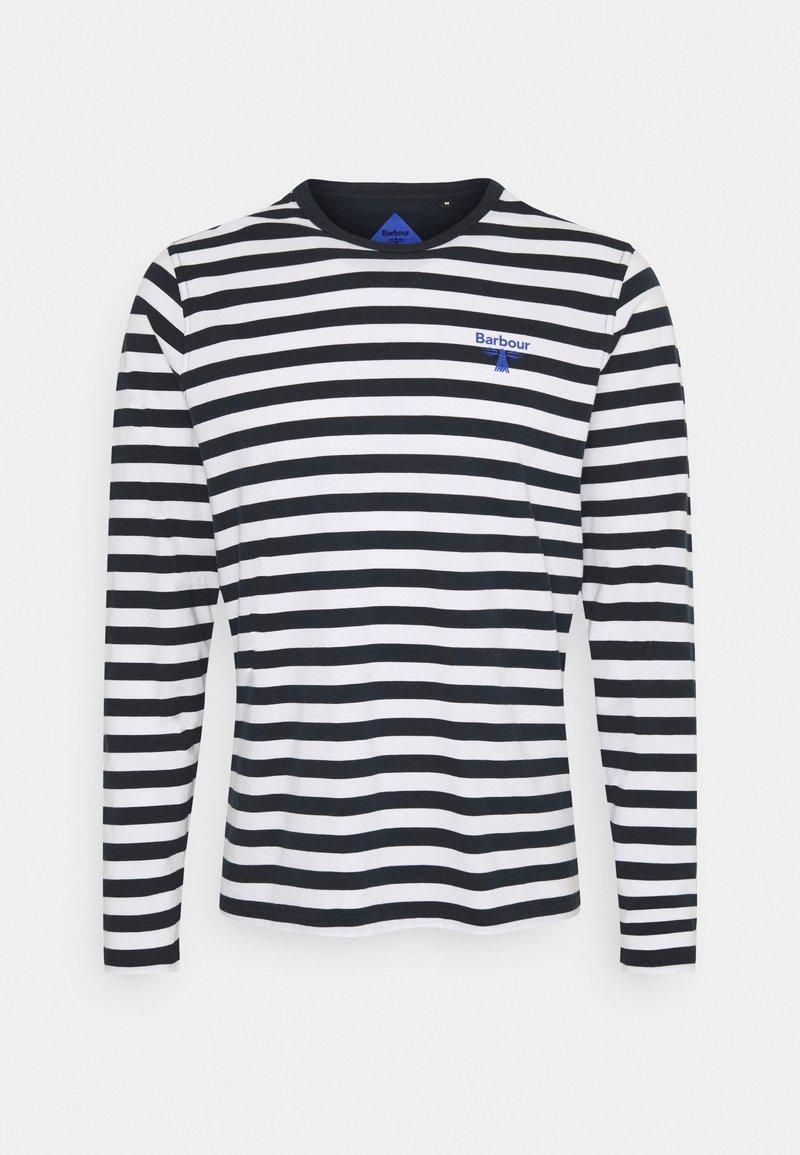 Barbour Beacon - STRIPED TEE - Långärmad tröja - navy