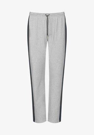 HOSE, LANG - Pyjama bottoms - light grey melange
