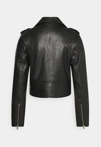 NAF NAF - CEPHEE - Veste en cuir - noir - 1