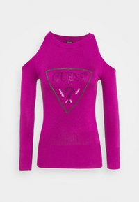 Guess - AURELIE CUT OUT - Sweter - lipstick geranium - 0