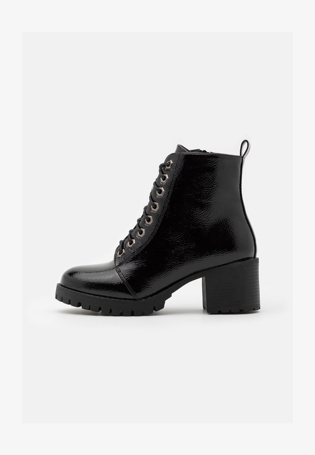 WIDE FIT MYRTLE - Lace-up ankle boots - black