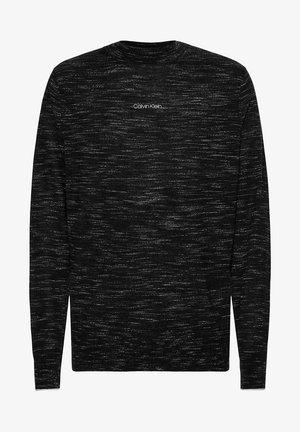 SLIM SPACE DYE - Pullover - black