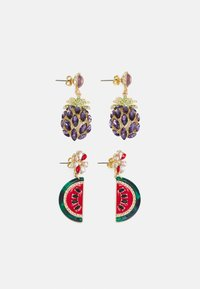 Pieces - PCLAICA EARRINGS 2 PACK - Earrings - gold-coloured/multi - 0