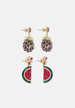 PCLAICA EARRINGS 2 PACK - Korvakorut - gold-coloured/multi