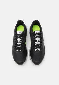 Nike Performance - DOWNSHIFTER 10 VIZ UNISEX - Neutral running shoes - black/reflect silver/light smoke grey/volt - 3
