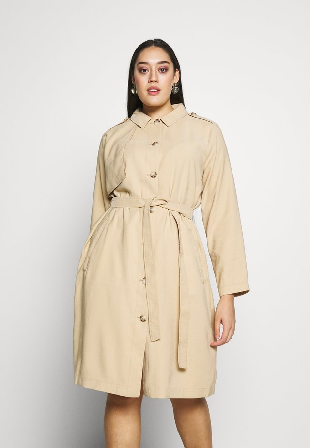 FLUENT TRENCH COAT - Prochowiec - cream toffee