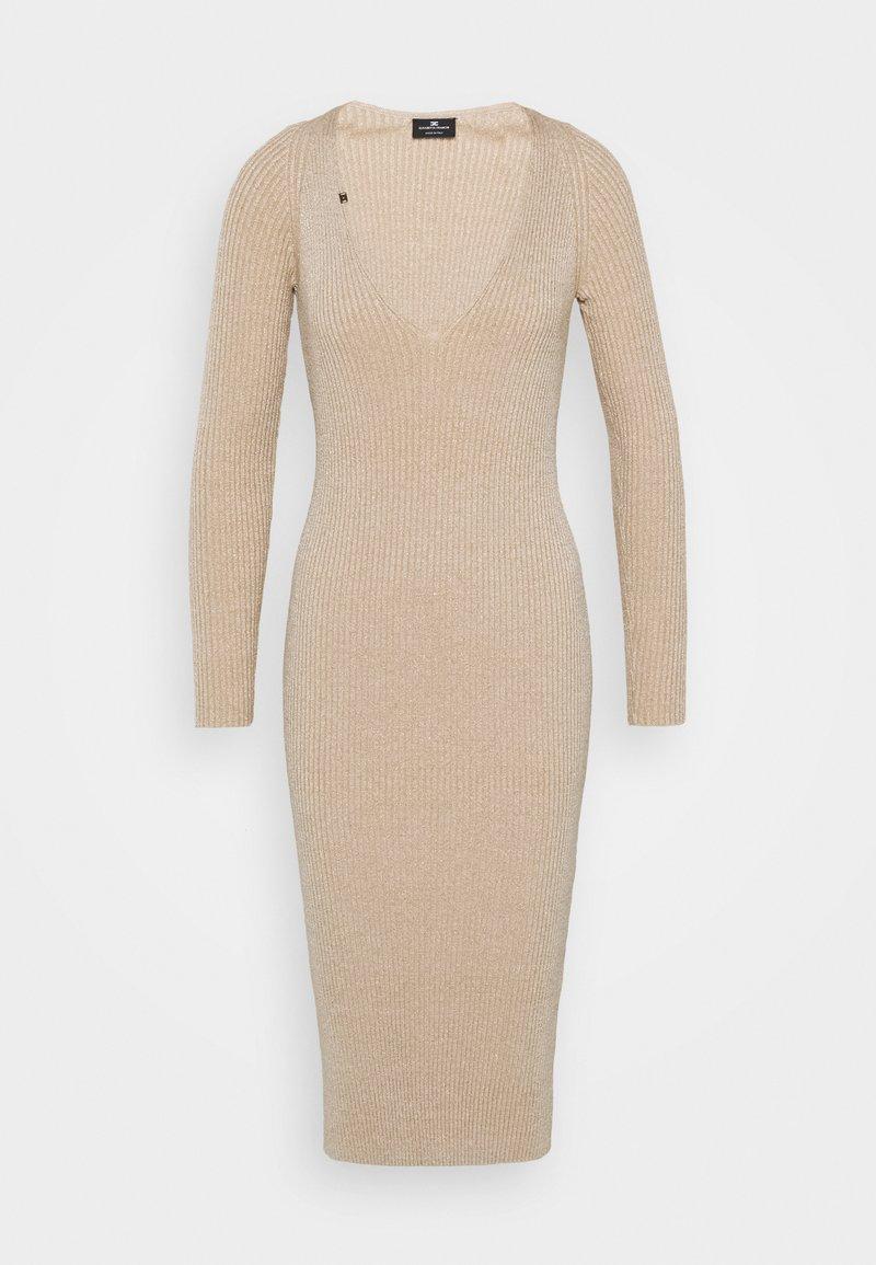 Elisabetta Franchi - WOMAN'S DRESS - Neulemekko - champagne