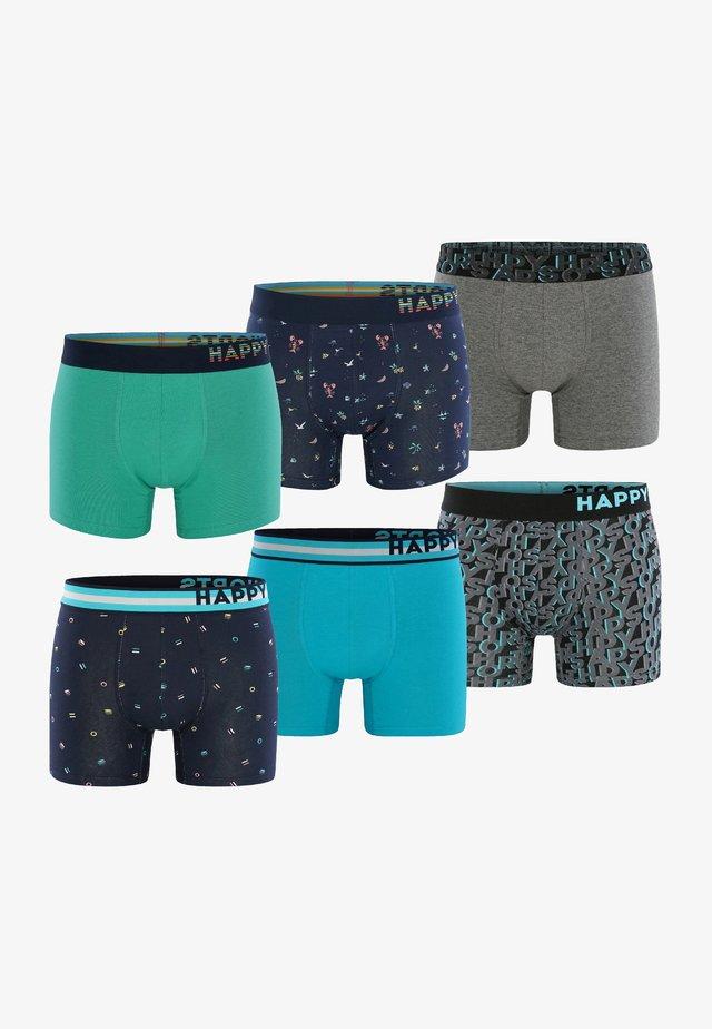 6 PACK - Boxer shorts - grün/grau