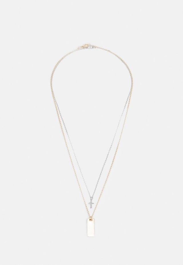MULTIROW NECKLACE 2 PACK - Necklace - gold-coloured/silver-coloured