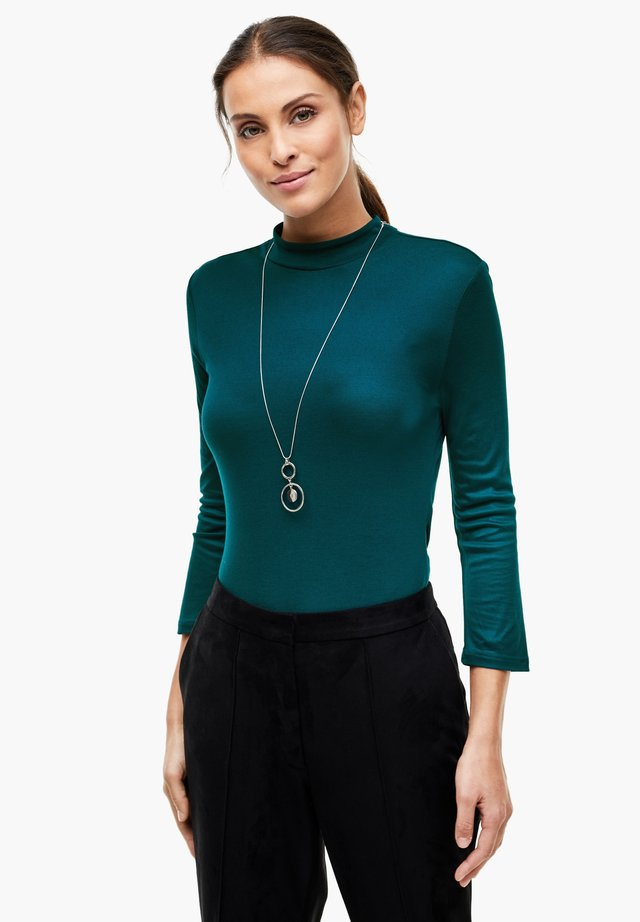 MIT STEHKRAGEN - Long sleeved top - petrol
