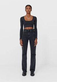 Stradivarius - Straight leg jeans - black - 1