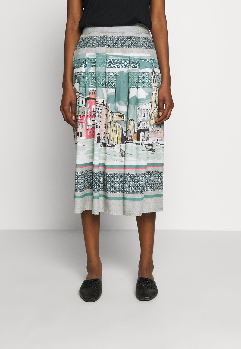 Thought - CANALETTO SKIRT - A-linjekjol - lagoon blue