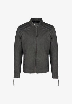 NERO - Leather jacket - asphalt
