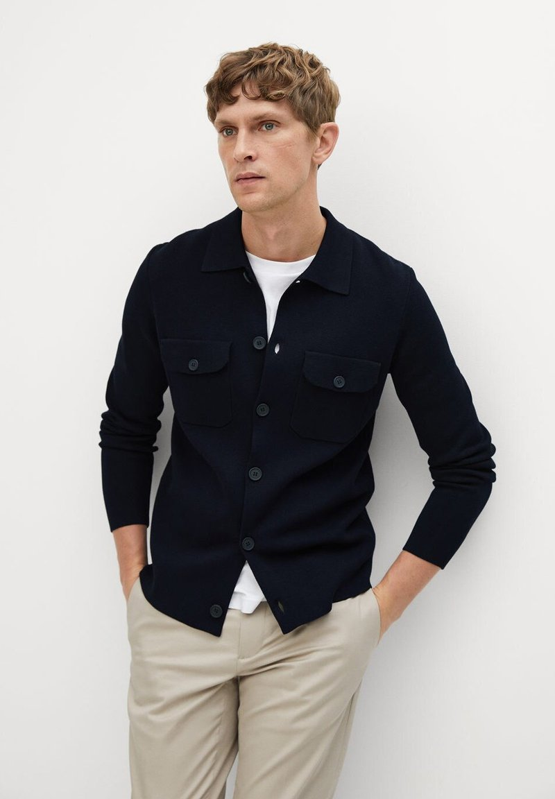 Mango - TOPCOAT - Shirt - marineblau