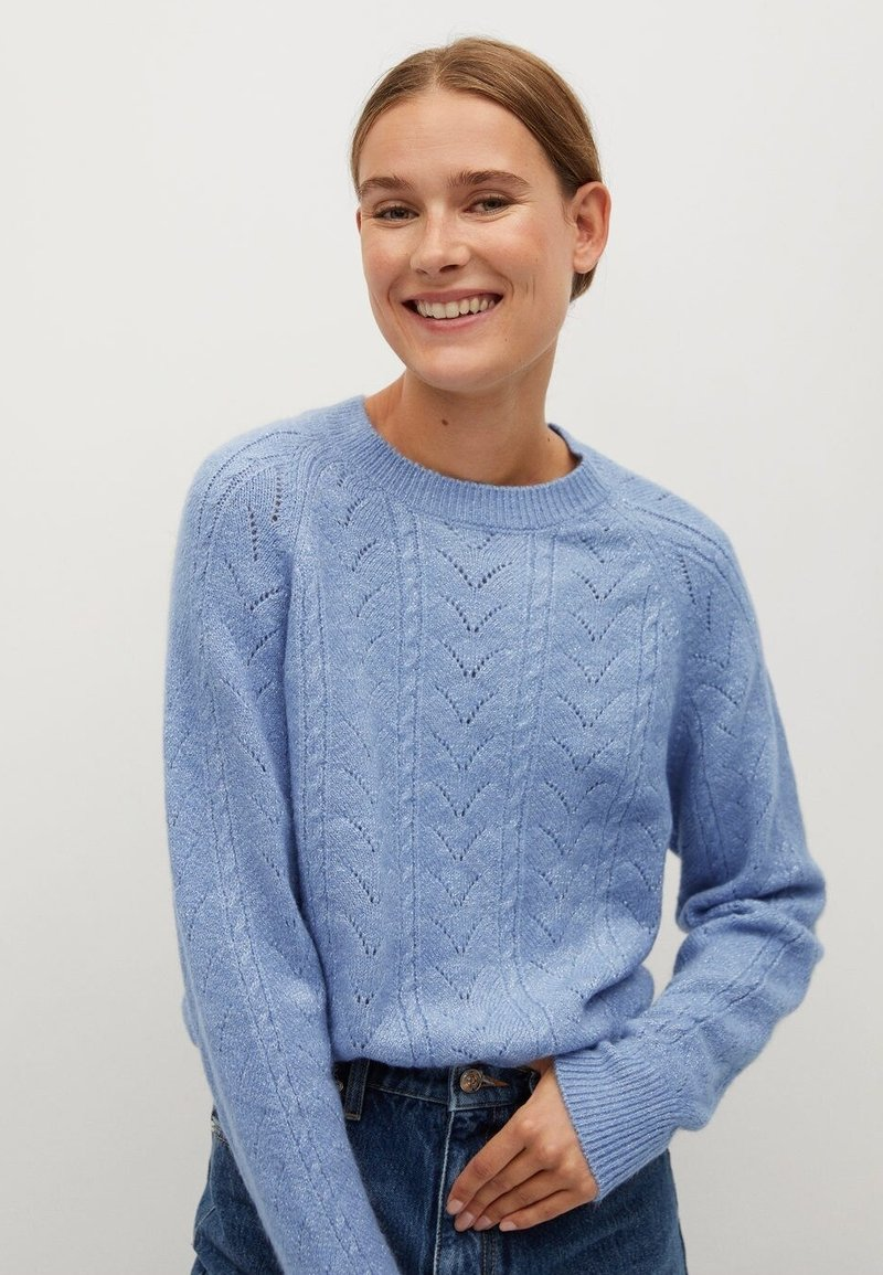 Mango - VACATION - Jumper - blau