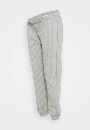 MLNICOLE PANTS - Tracksuit bottoms - light grey melange/white