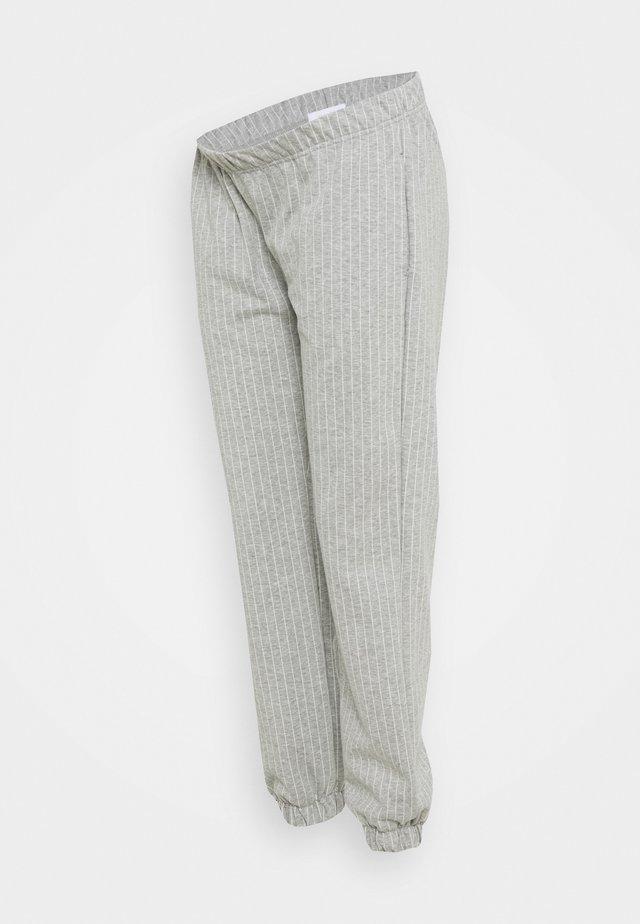 MLNICOLE PANTS - Trainingsbroek - light grey melange/white
