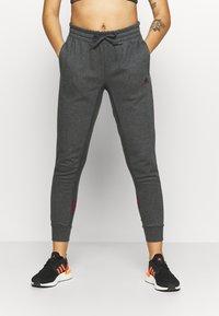 adidas Performance - Teplákové kalhoty - mottled dark grey - 0