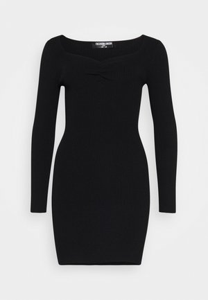 OBERLIN - Strikket kjole - black