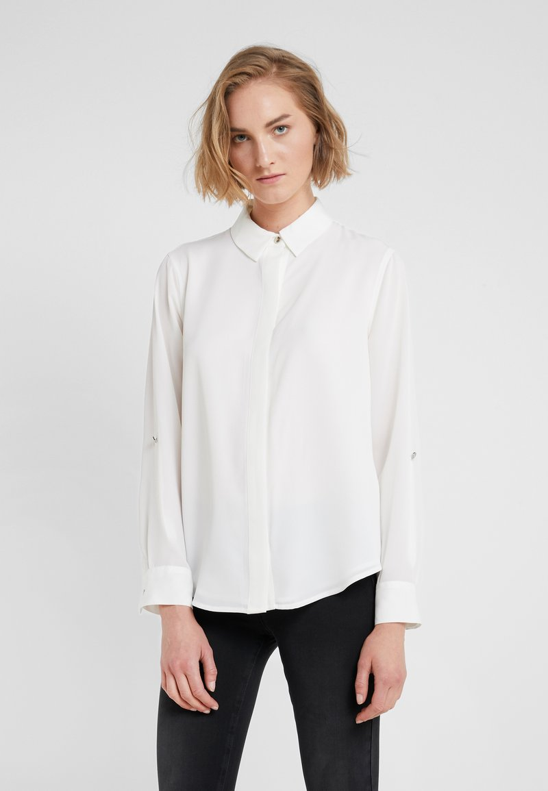 DKNY - FOUNDATION ROLL TAB THRU HIDDEN PLACKET - Button-down blouse - ivory