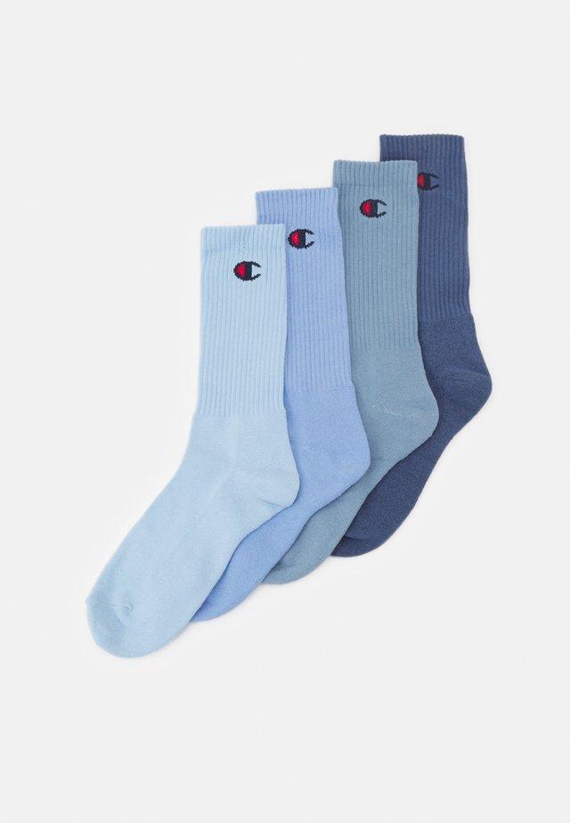 PASTEL CREW SOCKS 4 PACK UNISEX - Sportsokken - shades of blue
