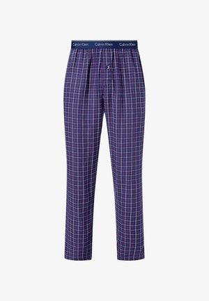 Pyjama bottoms - autum plaid_chino blue