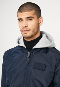 Alpha Industries - HOOD - Bomber Jacket - rep blue - 4