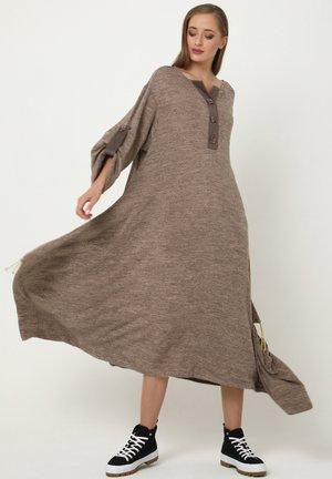 PULSARA - Maxi dress - dunkel-beige