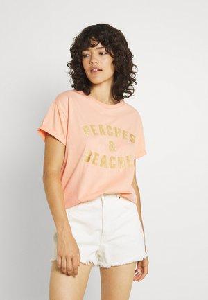 PAPAYA FIESTA BOXY TEE  - T-shirts print - peach