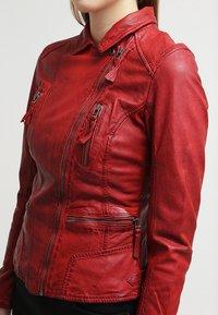 Oakwood - CAMERA - Leather jacket - red - 6