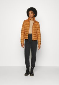 Vila - VISIBIRIA SHORT JACKET - Light jacket - pumpkin spice - 1