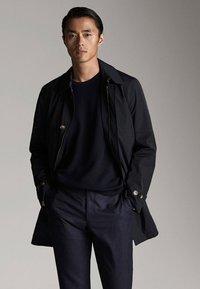 Massimo Dutti - Short coat - dark blue - 0