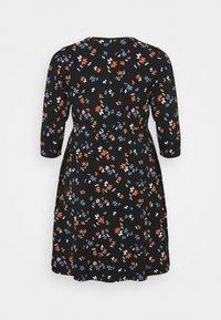Dorothy Perkins Curve - CURVE WRAP SLEEVE COBALT SPOT DRESS - Jerseykjole - multi - 1