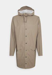 Rains - LONG JACKET UNISEX - Waterproof jacket - taupe - 0