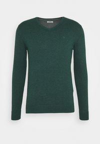 Sweter - midnight forest green mélange