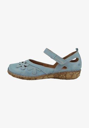 Ankle strap ballet pumps - light blue