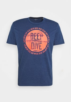 Print T-shirt - after dark blue