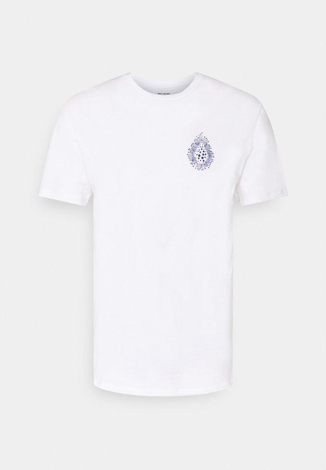 CORAL MORPH - T-shirt imprimé - white