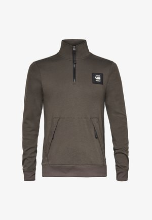 HALF ZIP TRACK TWEETER - Long sleeved top - asfalt