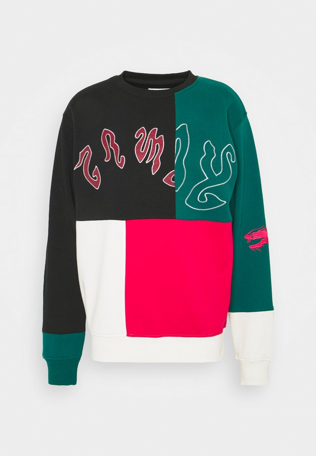 YOGA FIRE CREWNECK UNISEX - Sweatshirt - black