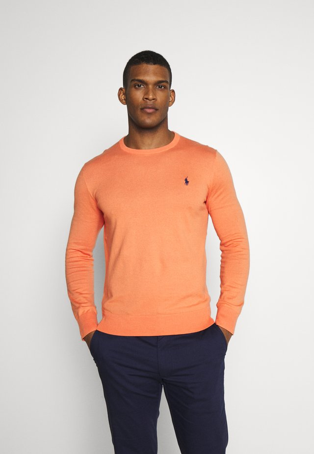 PIMA CREWNECK - Jersey de punto - true orange