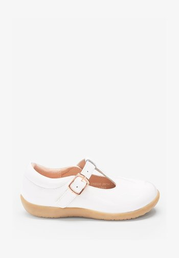 Ankle strap ballet pumps - off-white